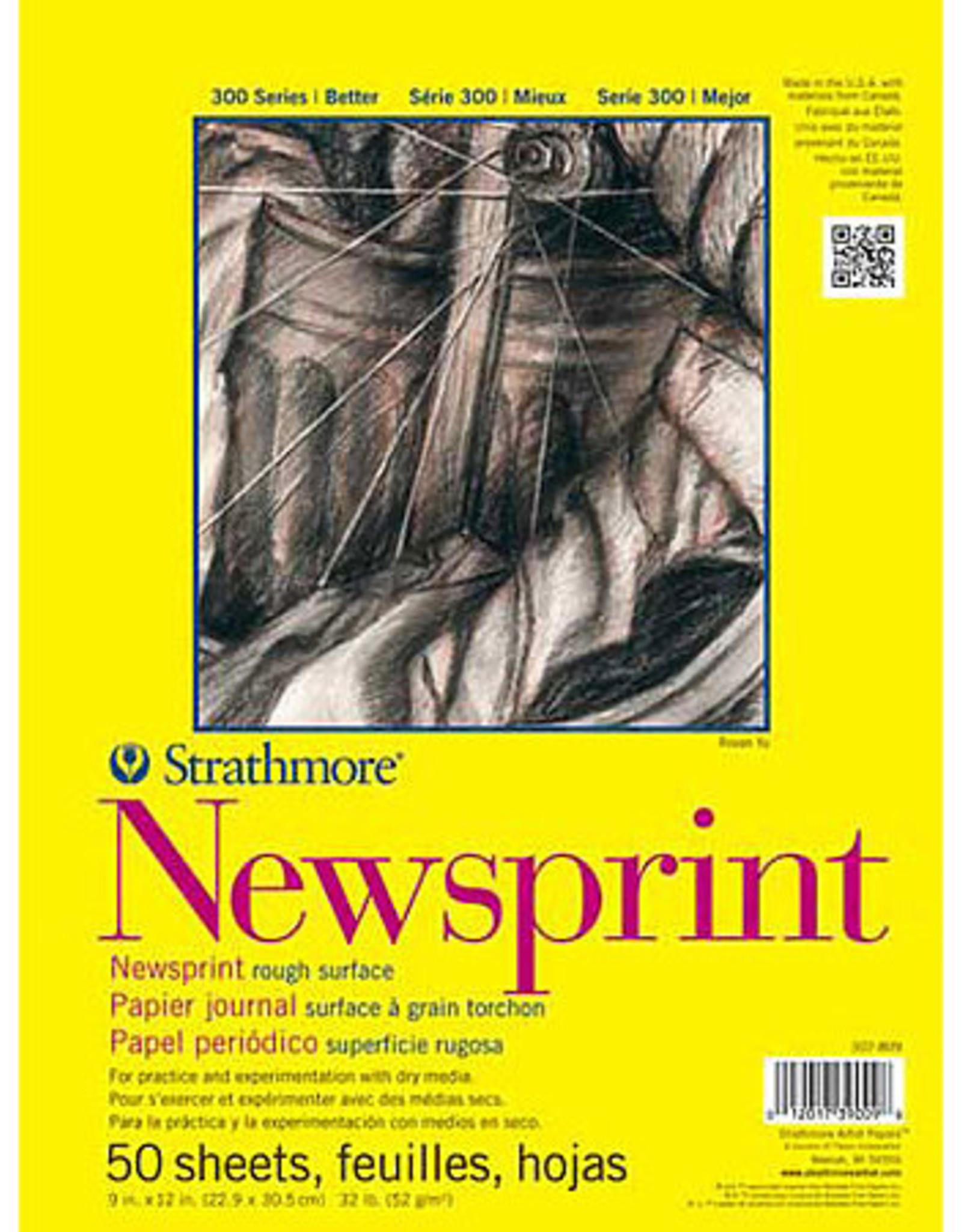 Newsprint sheet rough surface