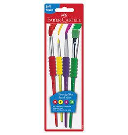 Soft Grip Brush Set of 4