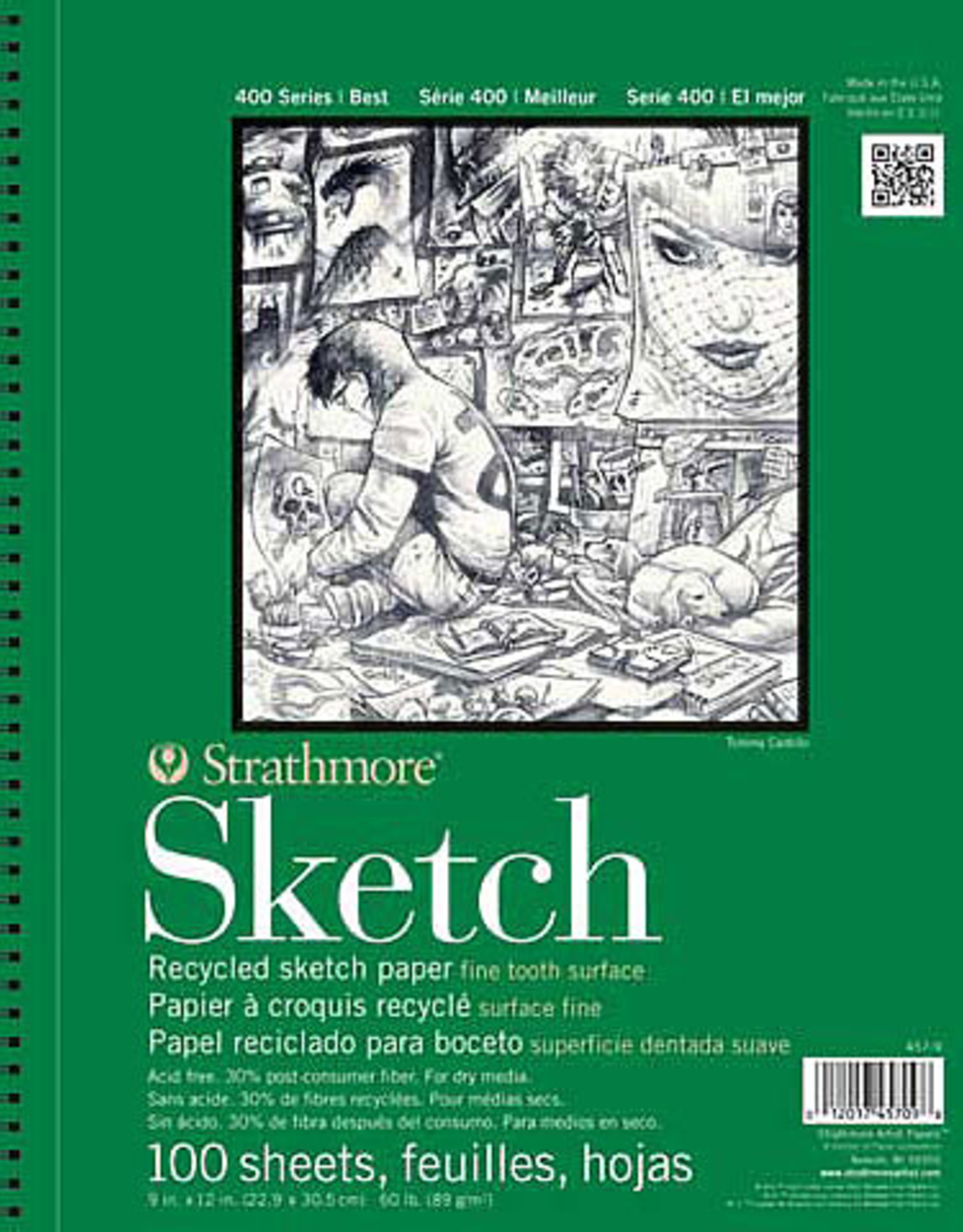 "Strathmore Sketch Pad 400 Series 9x12"""