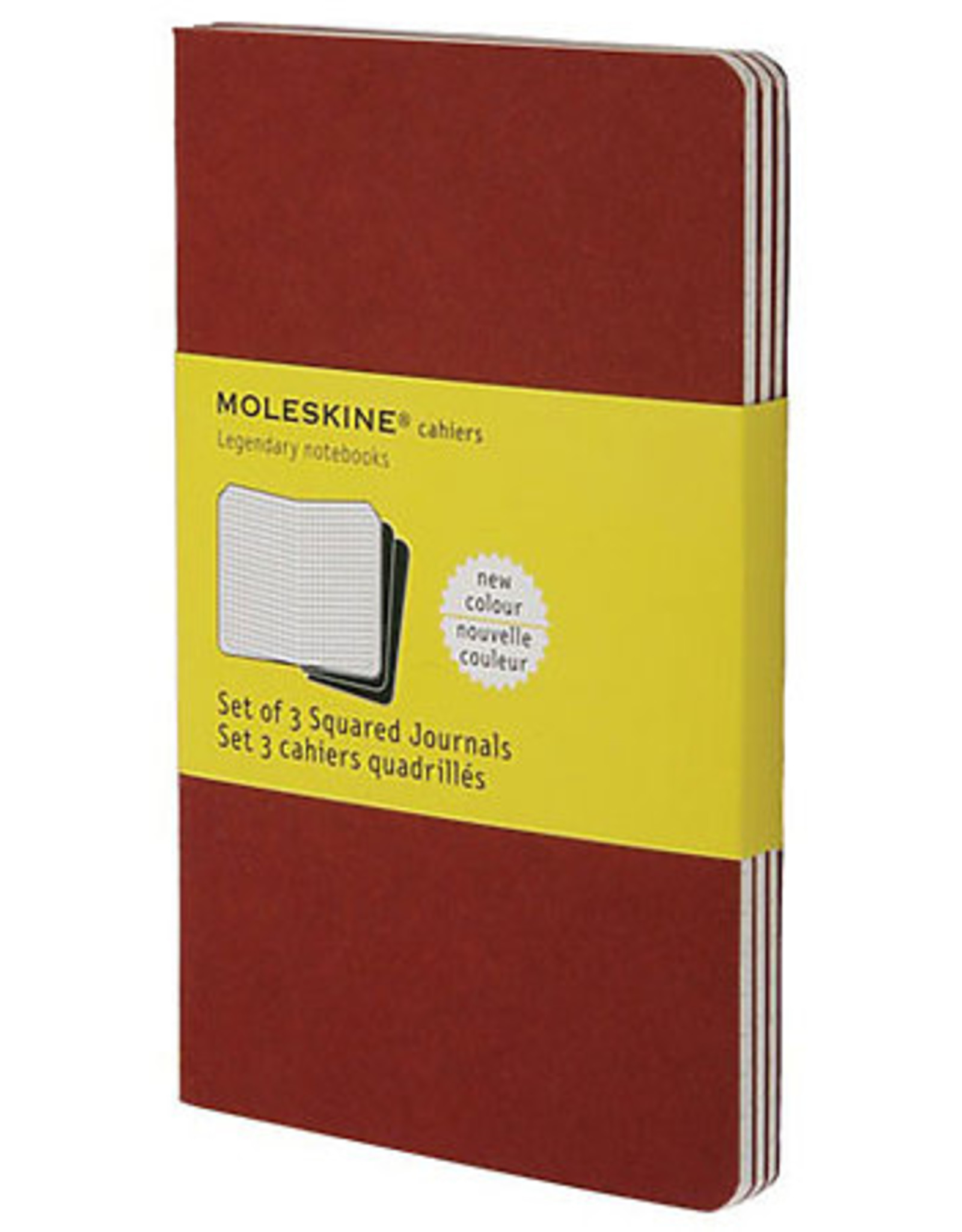 Moleskine Cahiers Set of 3 Red Plain