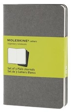 Moleskine Cahiers Set of 3 Grey Plain 3.5x5.5