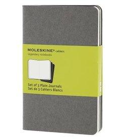 Moleskine Cahiers Set of 3 Grey Plain 3.5x5.5