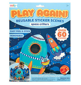 Play It Again Reusable Stickers