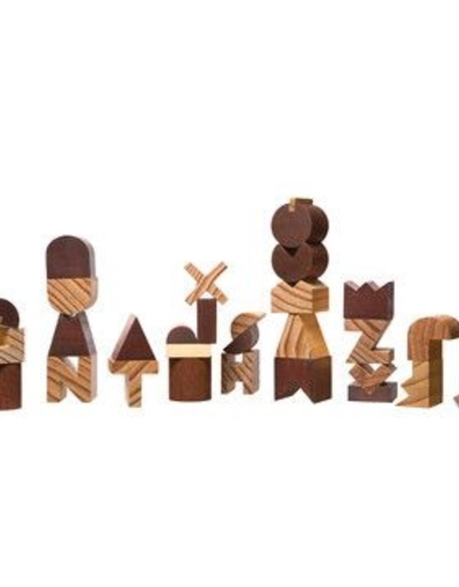 Wood Alphabet Set