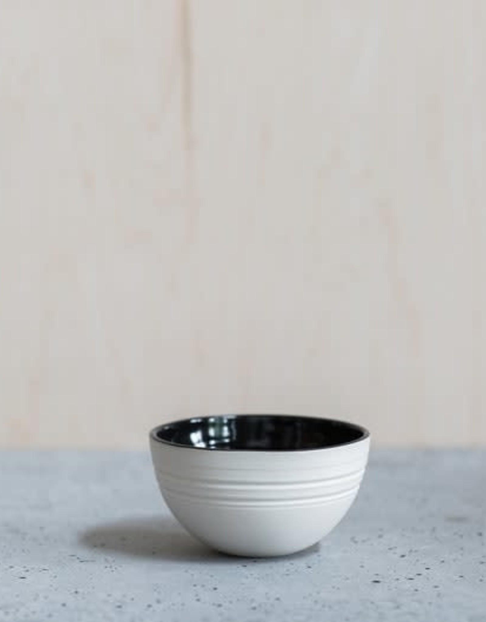 Liz Heller Black Porcelain Breakfast Bowl