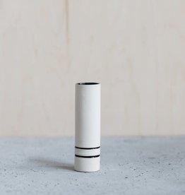 Liz Heller Black Porcelain Cylinder Bud Vase