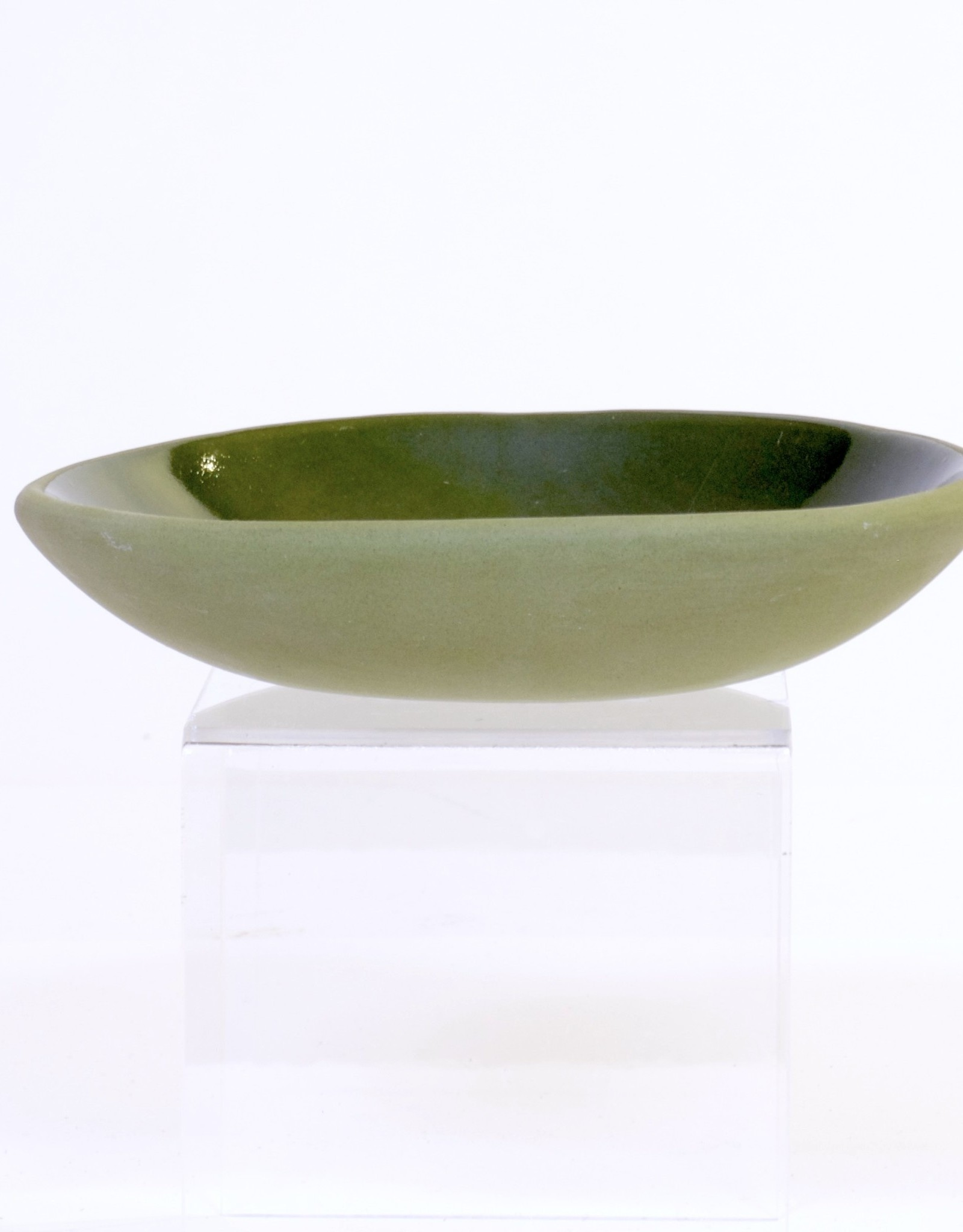Louise Deroualle Small Olive Green Plate