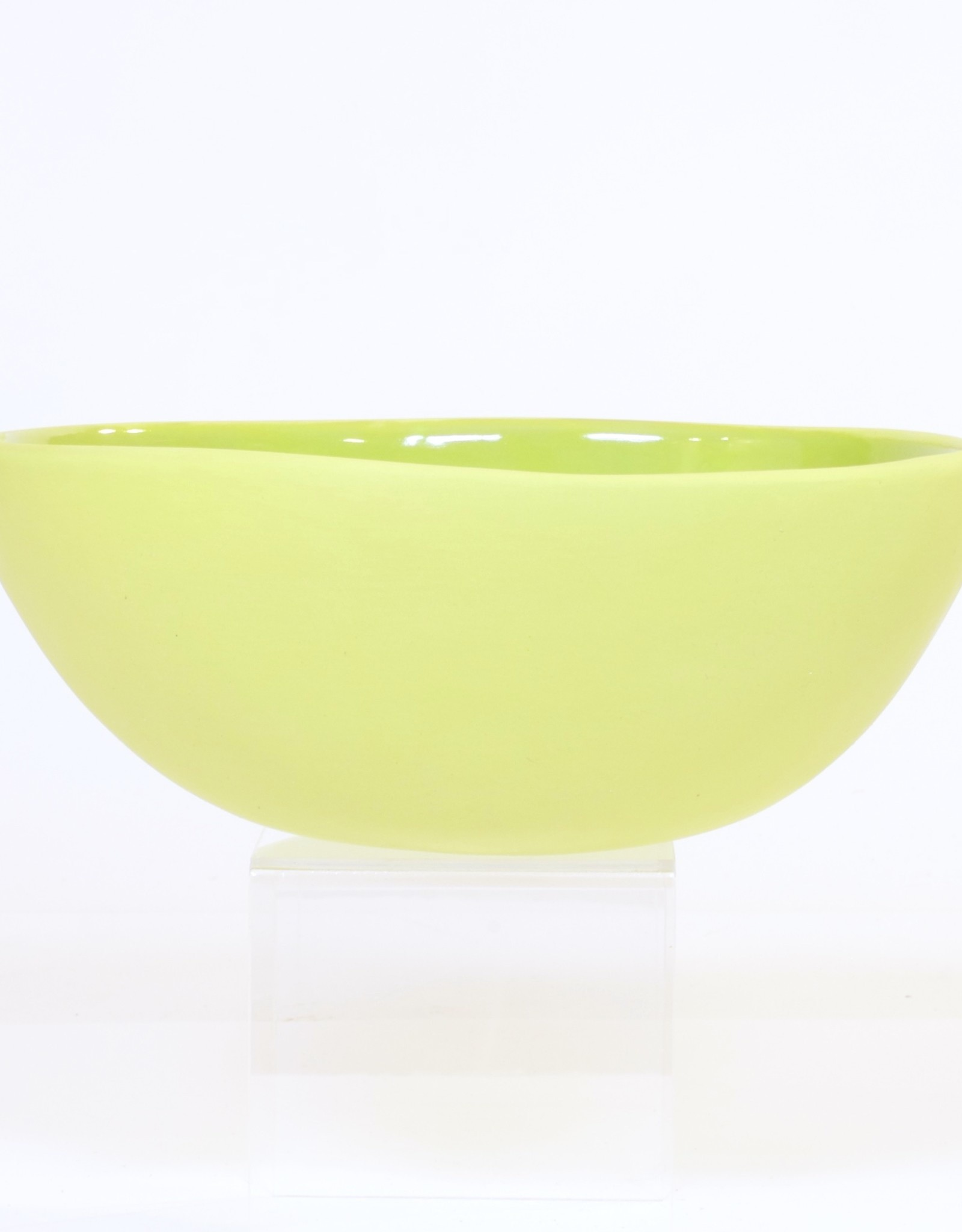 Louise Deroualle Large Lime Green Bowl
