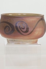 Copy of Bradley Walters Warm Brown Bowl with Brown Design on Rim