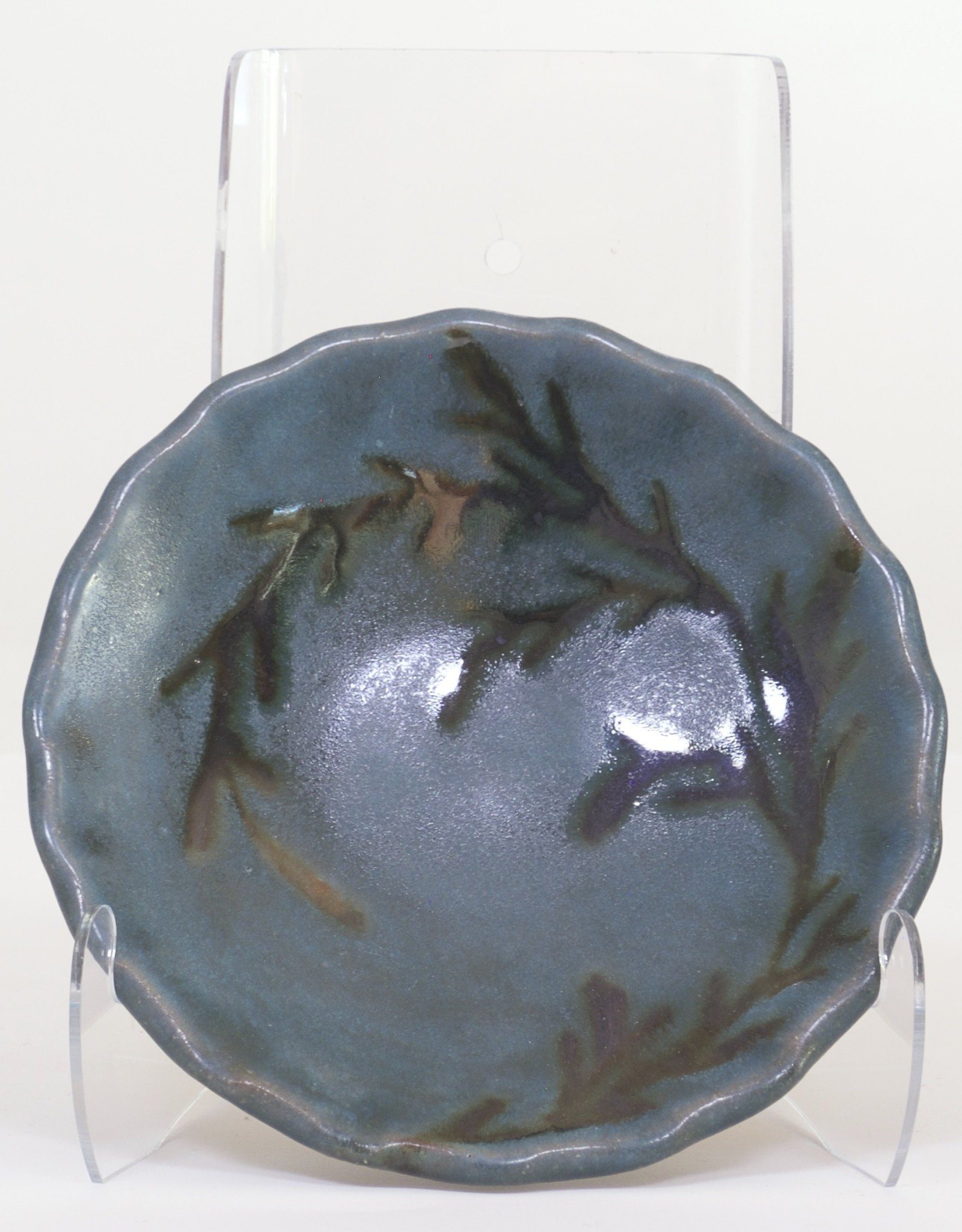Ruth Easterbrook Green Leaf Appetizer Plate