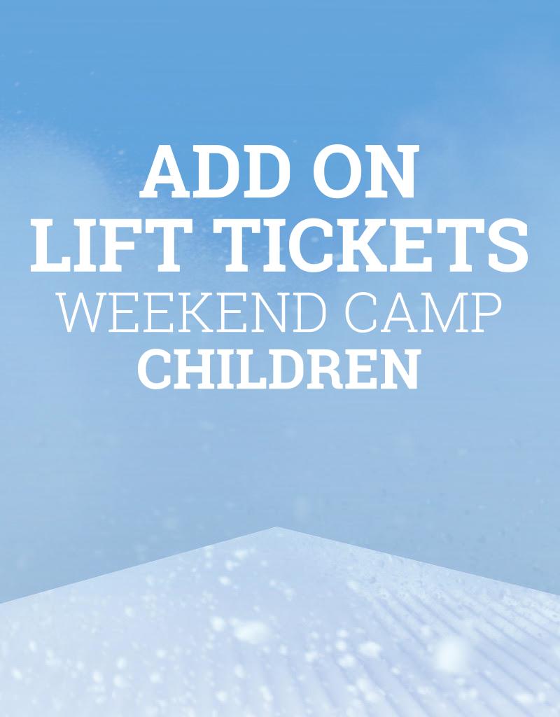 Snow School Snow School 3-Day CHILDREN Weekend Camp Add-On Lift Tickets