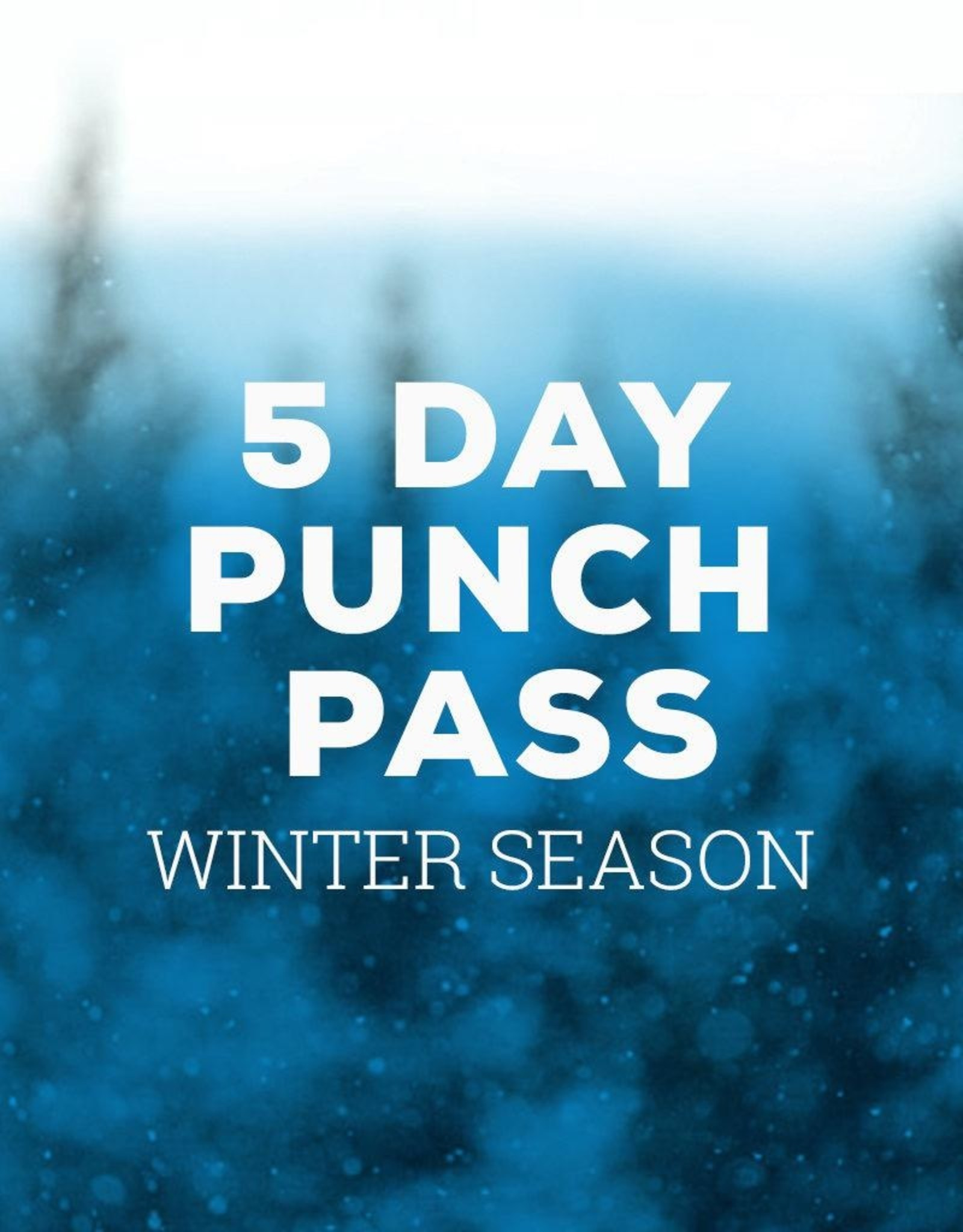Sima Winter Season 5 Day Punch Pass - Multi-User