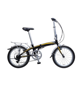 KHS KHS, F20A FOLDING BIKE, BLACK/ORANGE