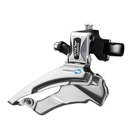 Shimano SHIMANO FRONT DERAILLEUR, FD-M313-3, ALTUS, DOWN-SWING, DUAL-PULL FOR REAR 7/8-SPD, BAND TYPE 34.9M (W/31.8 & 28.6MM ADAPTER), FOR 42/48T, CS-ANGLE:63-66, IND. PACK