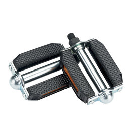 "Electra ELECTRA, DELUXE BLOCK, 1/2"" SPINDLE PEDAL, CHROME/BLACK"