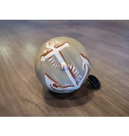 ANCHORS AWAY TAN HAND PAINTED BELL (60MM)