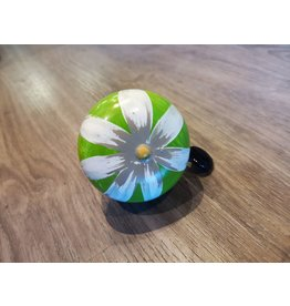 GREEN FLOWER HAND PAINTED BELL (60MM)