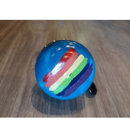 BLUE RAINBOW HAND PAINTED BELL (60MM)