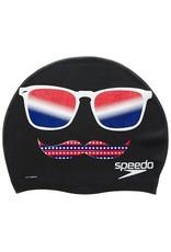 SPEEDO SPEEDO R/W/B MUSTACHE SILICONE CAP