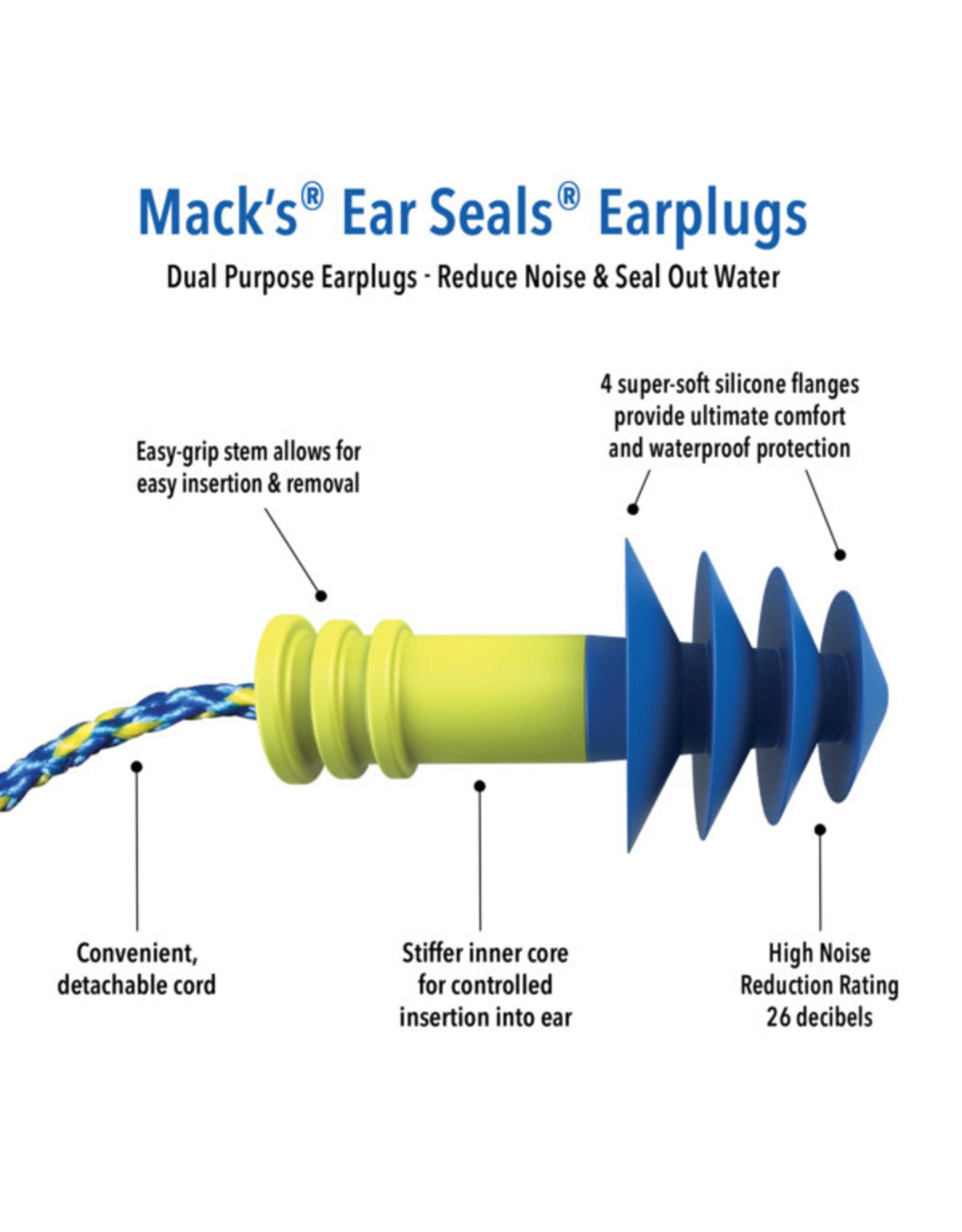 MACK'S EAR SEALS DUAL EARPLUGS