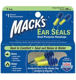 MACK'S EAR SEALS DUAL EARPLUGS