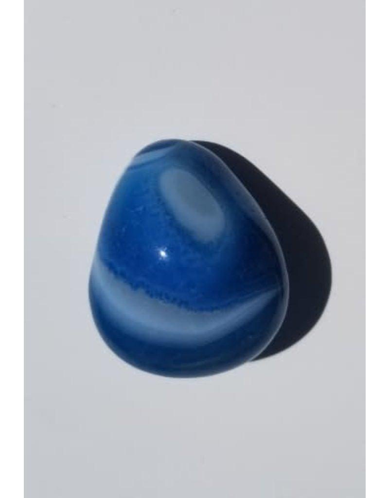 Agate bleue teintée