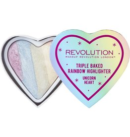 Makeup Revolution Fard Triple Baked Rainbow Highlighter
