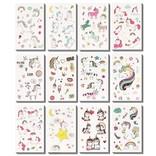 La Licornerie Feuille tatouages temporaires licorne