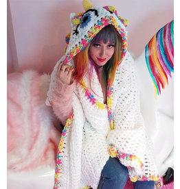 La Licornerie ♥♥ Couverture tricotée à capuchon - petite