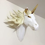 La Licornerie ♥♥ Origami Unicorn head wall mounted Mythical Spirit DIY