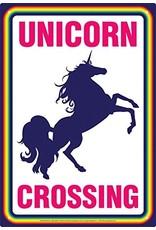 Plaque métallique Unicorn Crossing