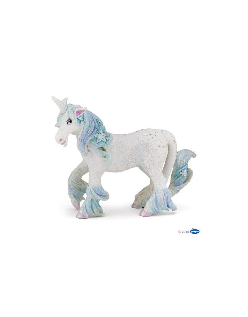 Figurine Licorne des glaces bleu