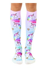 La Licornerie Unicorn with Golden Hearts Knee High Socks