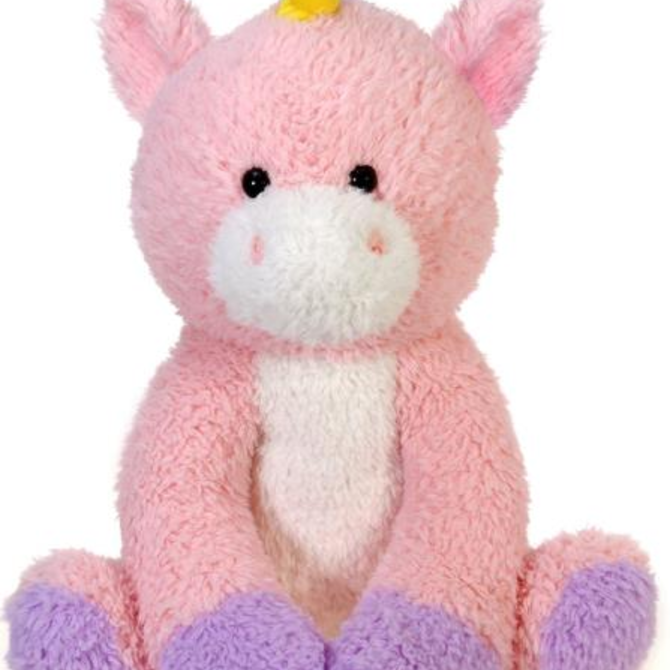 "La Licornerie Scruffy Pink Unicorn Plush 22"""