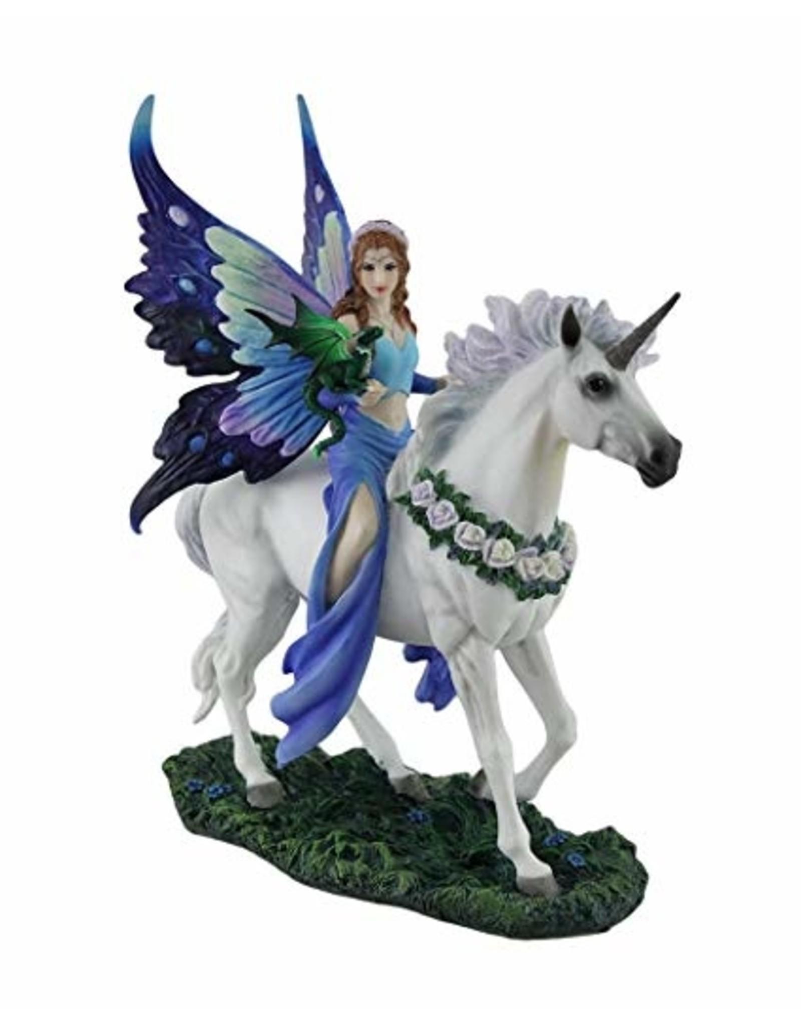 La Licornerie Statue licorne fée bleue