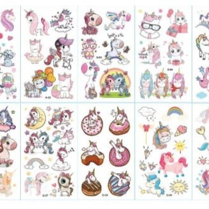 La Licornerie Feuille tatouage licorne