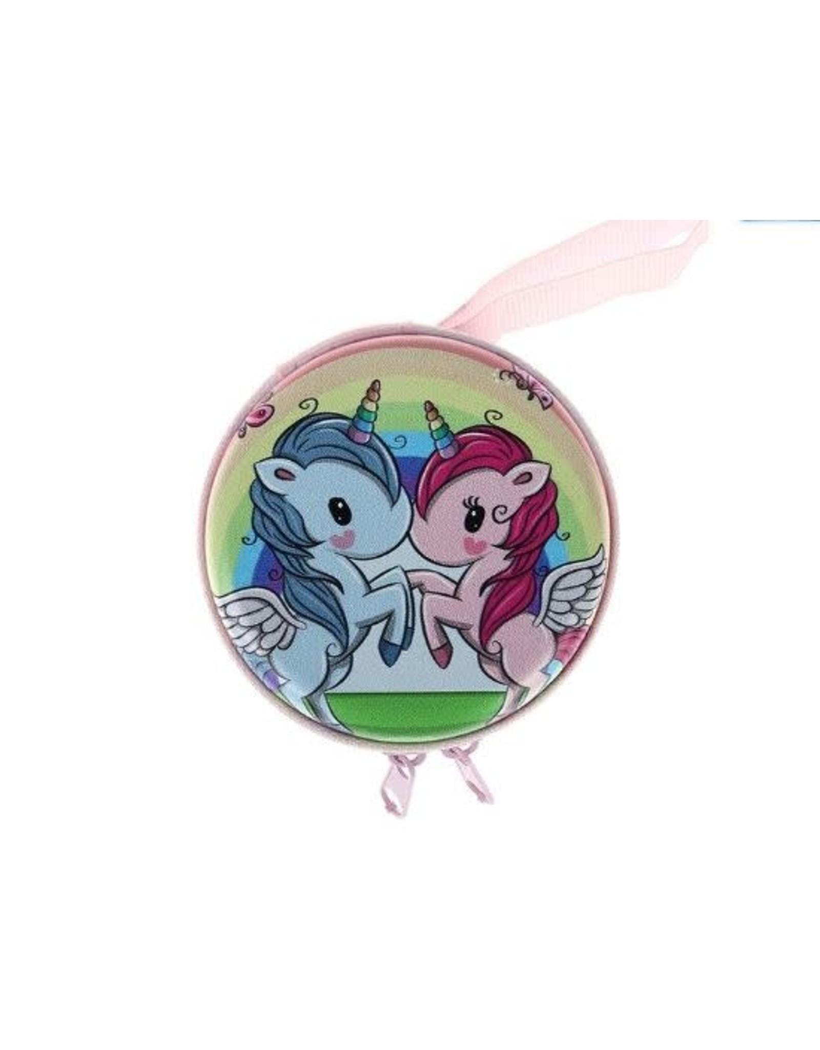 La Licornerie Metallic Unicorn Zip Coin Purse