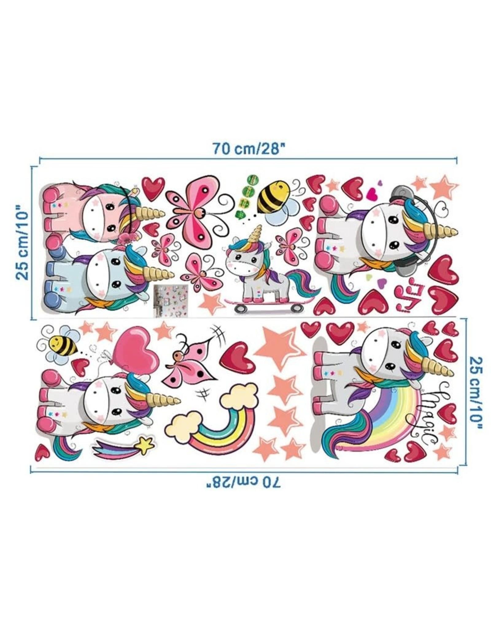 La Licornerie Vinyl Wall Stickers - 2 sheets