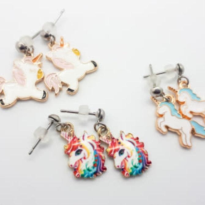 La Licornerie Boucles d'oreilles licorne acier inoxydable