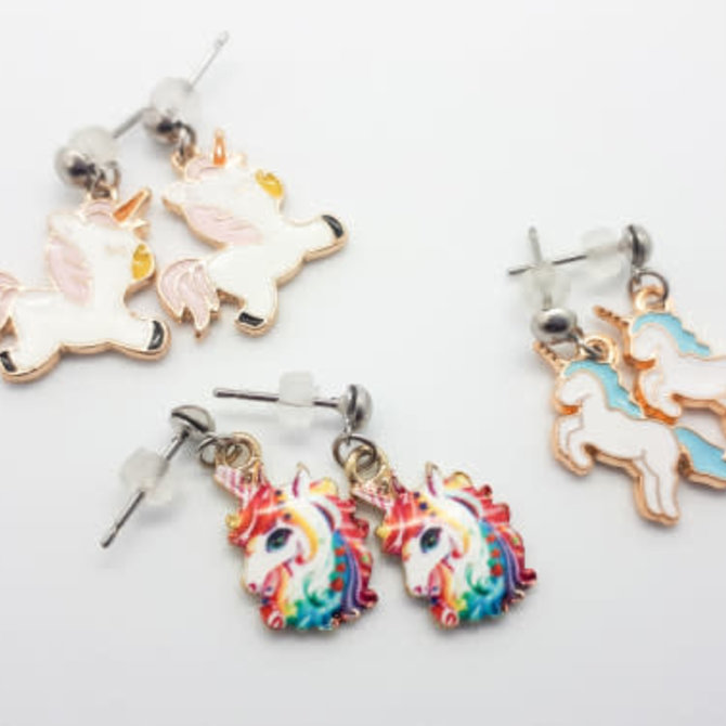 La Licornerie Stainless Steel Unicorn Stud Earrings
