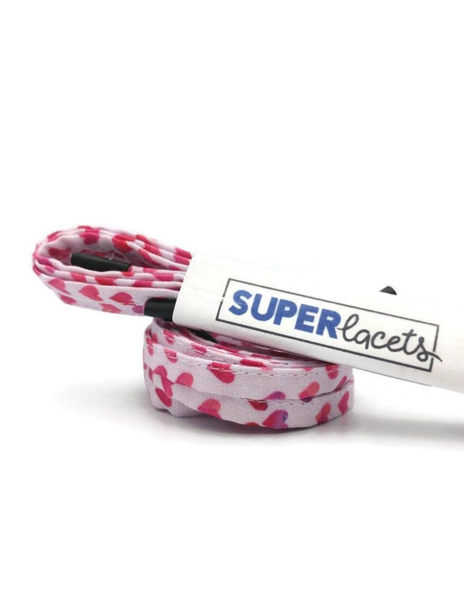 La Licornerie ♥♥ Pink Hearts Shoe Laces