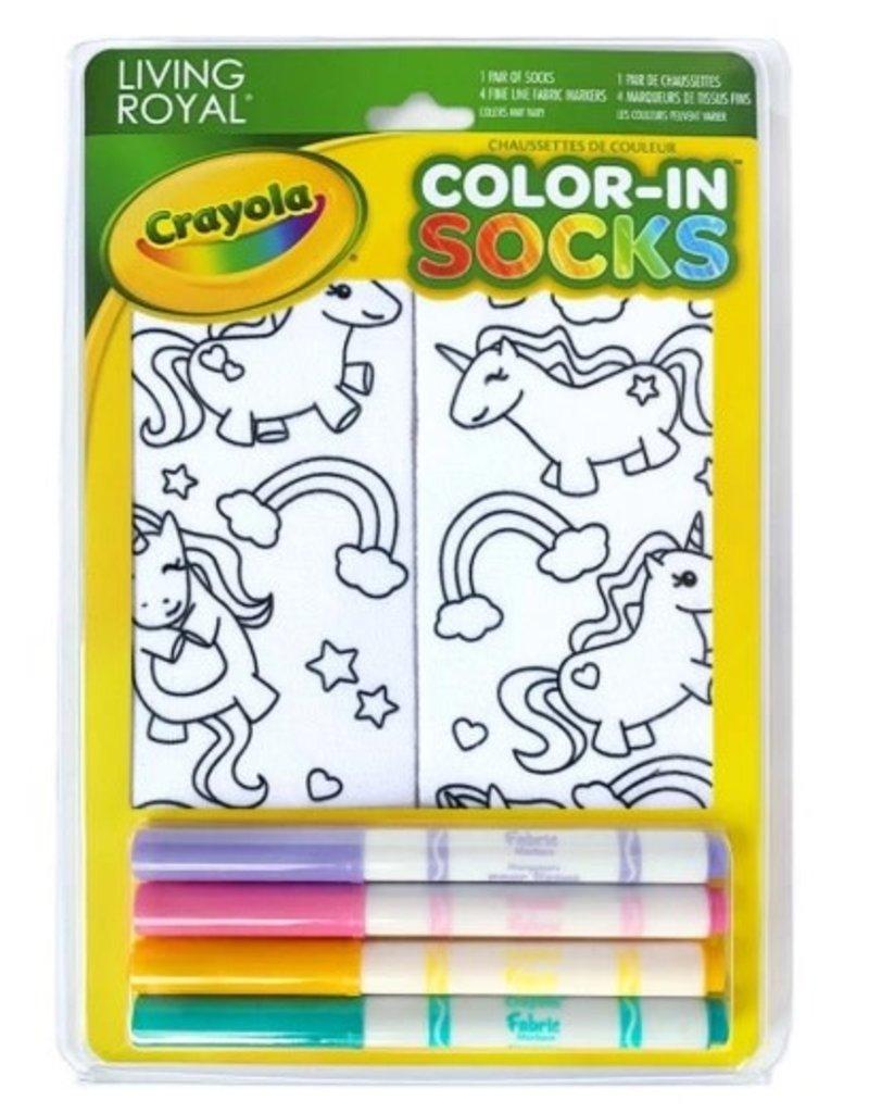 La Licornerie Bas à colorier Licornes amusantes