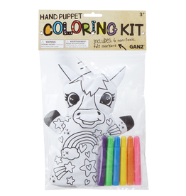 La Licornerie Hand Puppet '' Draw It Yourself'' with 6 markers