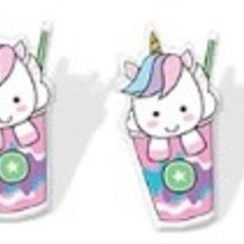 La Licornerie Boucles d'oreilles Licorne dans un verre