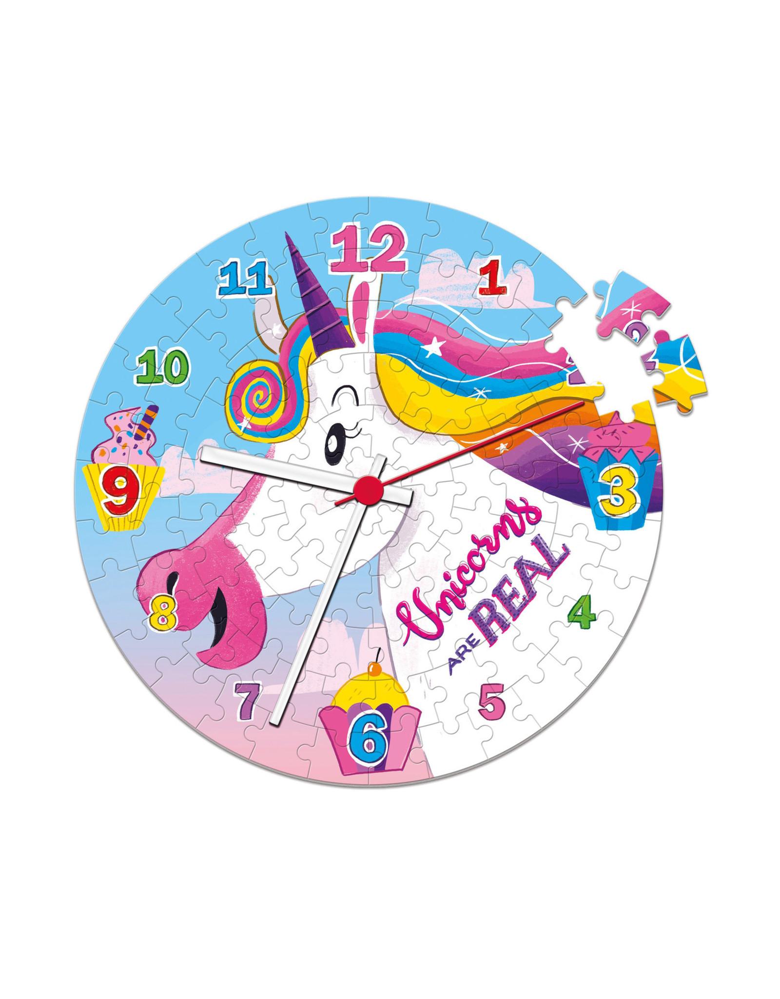 La Licornerie Unicorns are real Clock Puzzle 96 pieces