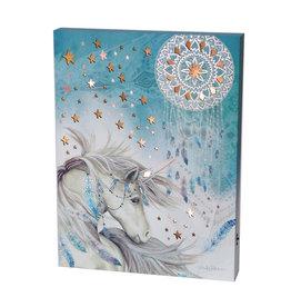 La Licornerie Tableau lumineux Licorne Bleue