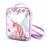 Sac style backpack fleuri avec licorne