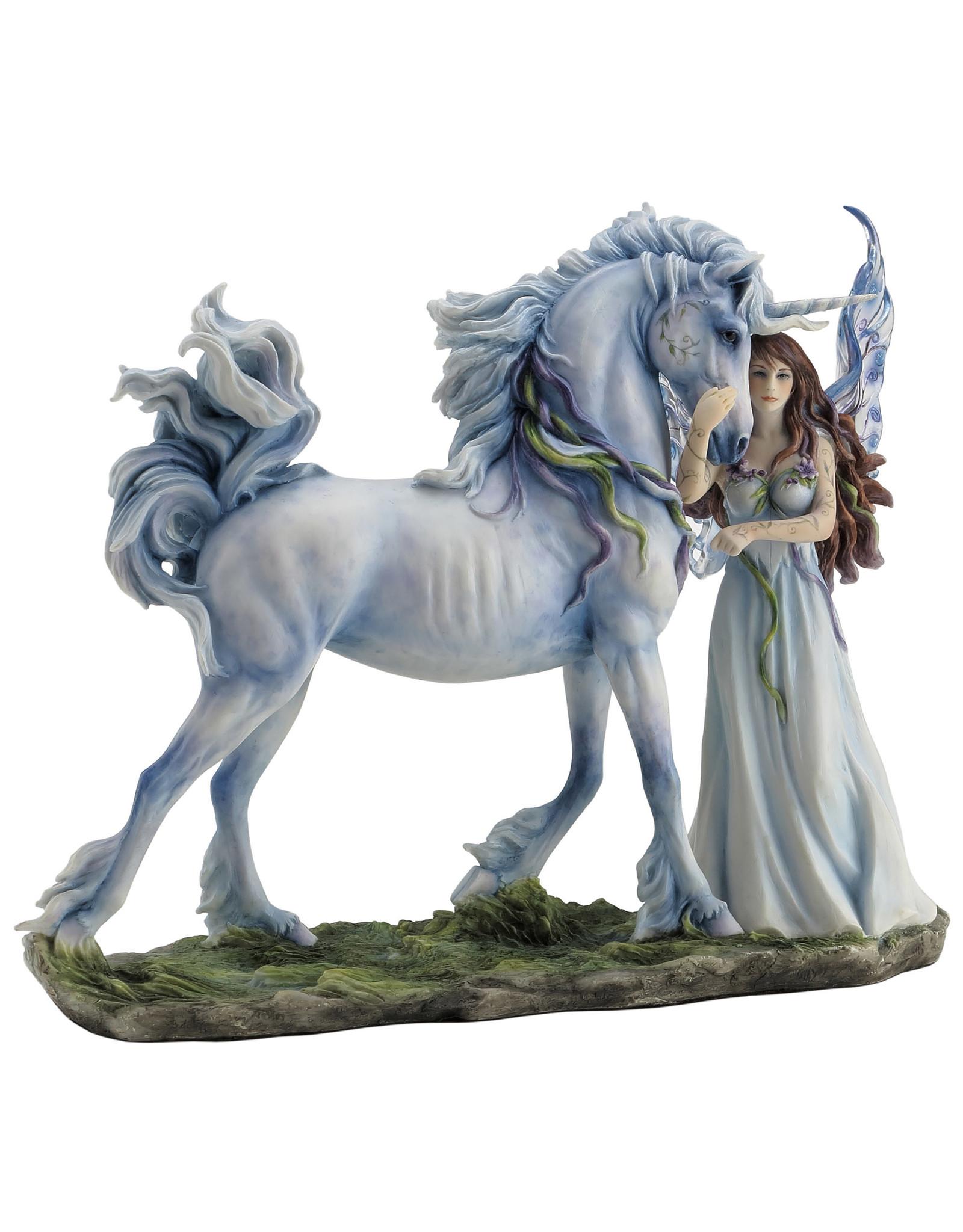 La Licornerie Statue licorne fée blanche
