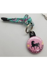 La Licornerie ♥♥ Porte-clé lacet ROSE la plus belle des licornes