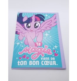La Licornerie Carte de fête My little Pony Ta magie vient de bon coeur